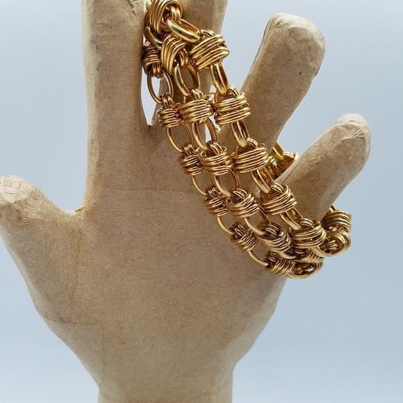 Talbots gold tone triple strand chain bracelet